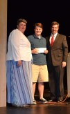 Chris Landy receives the Mr. Rockland award and scholarship.