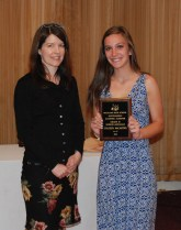 Sophomore Colleen McCarthy received the Academic Achiever Award in World Languages presented by department head, Stephanie Palmer.