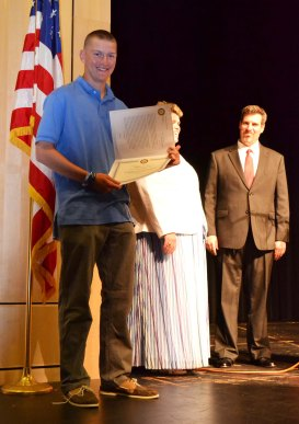 Mike Leavitt received a Rotary Scholarship Award.
