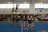 RHS Cheer performed during the rally.