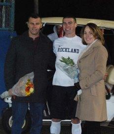 Joe Kimball with his mother, Teresa and his father, Dan.