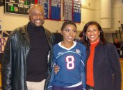 Tamara Gibson with her parents Elba and Timothy Gibson