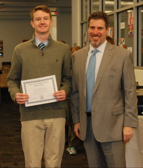 Jared Ochenduszko and Principal of Rockland High School, Dr. Alan Cron