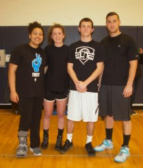 Adiza Alasa, Brooke Jones, Jake Crawford and middle school teacher Matt Vincenzi were Cookies and Milk. They came in second in the tournament.