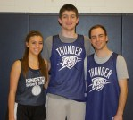 Danielle O'Brien, Aiden Glennon and Brian Smith won the 3 on 3 Nets for Nets Tournament.
