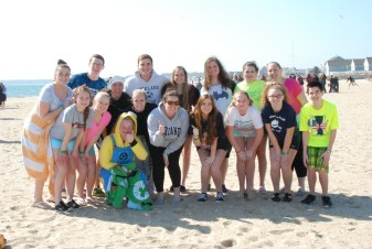 Members of RHS SGC before the annual MASC Polar Plunge