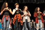 "The chorus sings ""Seasons of Love"" from Rent. Left to right: Jailene Escalera, Erika Wiley, Sophie McLellan and Paige Boggs."