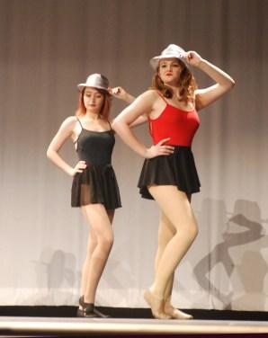 Jurnee Dunn and Leah DeCecco in A Chorus Line