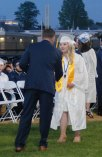 Haley Macray receives her diploma.