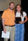 Mr. MacAllister presents Lexie Carchedi with the JOHN BELL AWARD.