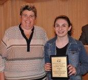 Ms. Paulding and Sarah Pollard, Grade 9 Art and Tech Ed. winner
