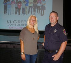 Katie L. Greer and School Resource Officer Ethan Schnabel