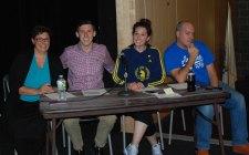 Judges Ms. Hoffman, Mr. Finn, Mrs. Shaugnessy and Mr. Casagrande. photo by Sophie McLellan