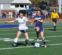 #6 Meaghan McDonough battles against Cohasset.