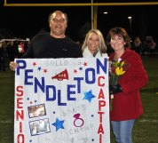 Taylor Pendleton with her parents Susan and Tom.
