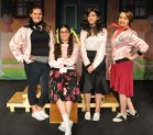 Karen Dalton, Erin Field, Navaeh Clara and Jurnee Dunn are the Pink Ladies. Veritas photo