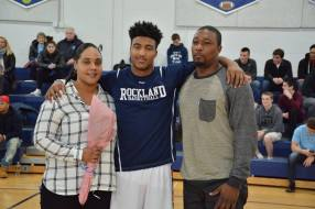 Jakigh Marcelin and his parents