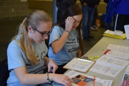 Registering the teams from all across Massachusetts that participated in the bocce tournament on Jan. 29.