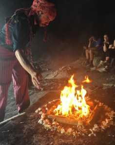 Students got to participate in a traditional Mayan ceremony during the week in Guatemala. Mayan Shaman, Byron Rabe is shown in an ancient cave. Photo courtesy of Amanda Lanigan.