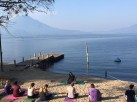 The Rockland High students got to relax with yoga and a fantastic view of Lake Atitlán. photo courtesy of Mrs. Shaughnessy