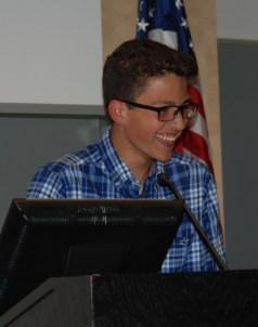 Sophomore class head rep, Francisco Oliveira