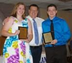 Kerin Dalton and Jordan Cunningham, Grade 9 received music achievement awards