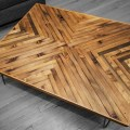 This is a coffee table created using reclaimed old growth lumber that