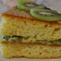 Kiwi and Orange Blossom Cake. An Ode to Spring