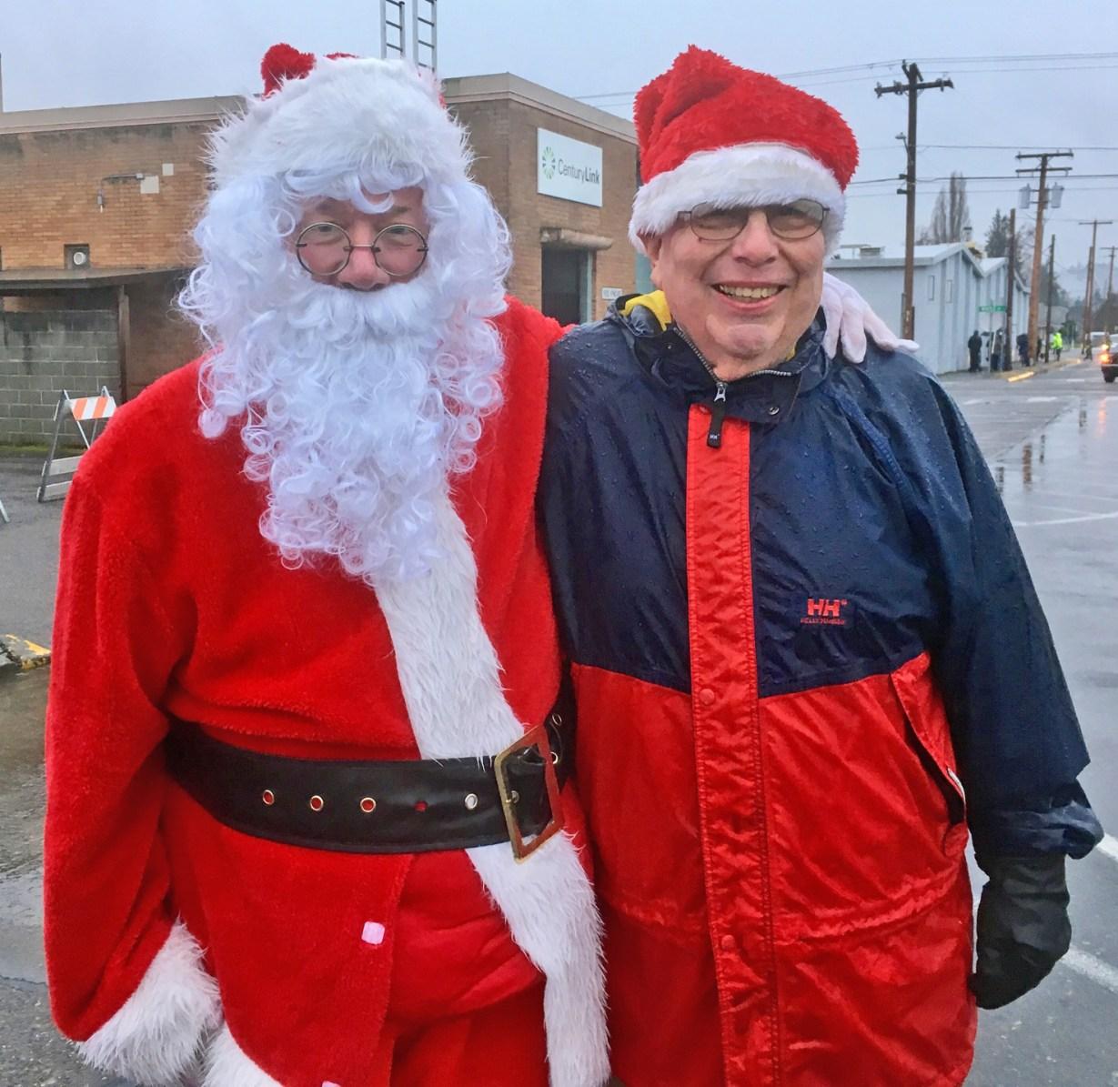 Santa and Mayor