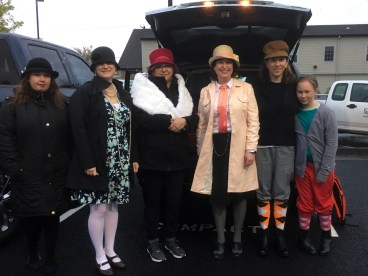 The float's walkers gathered in Sumner at 6:45 am to head to Tacoma. (You read that time correctly.)