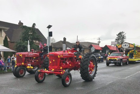 Nothing says Sumner's Traditions like vintage tractors.