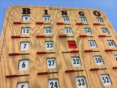 Even the bingo game was vintage!