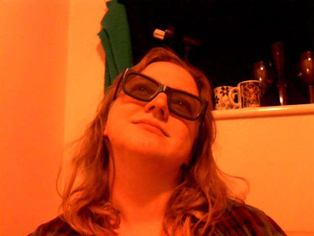 Me, smiling dreamily at the beauty of it all in my 3D glasses