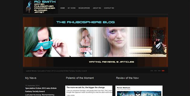 A screencap of my website.