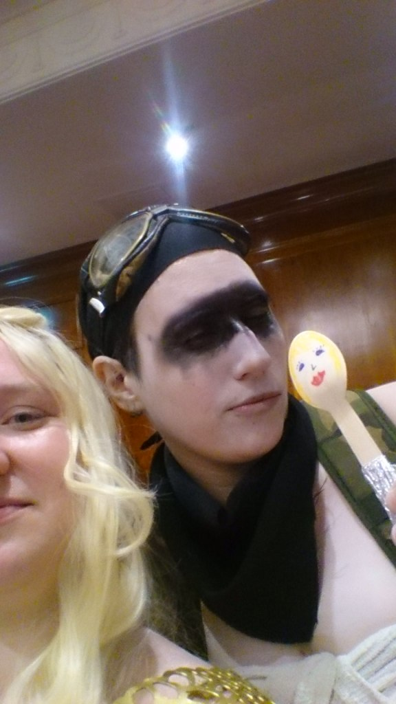 Me as Daenerys and Furiosa with the spoon