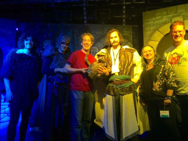 Jonathan Green, and the cast of Knightmare Live!