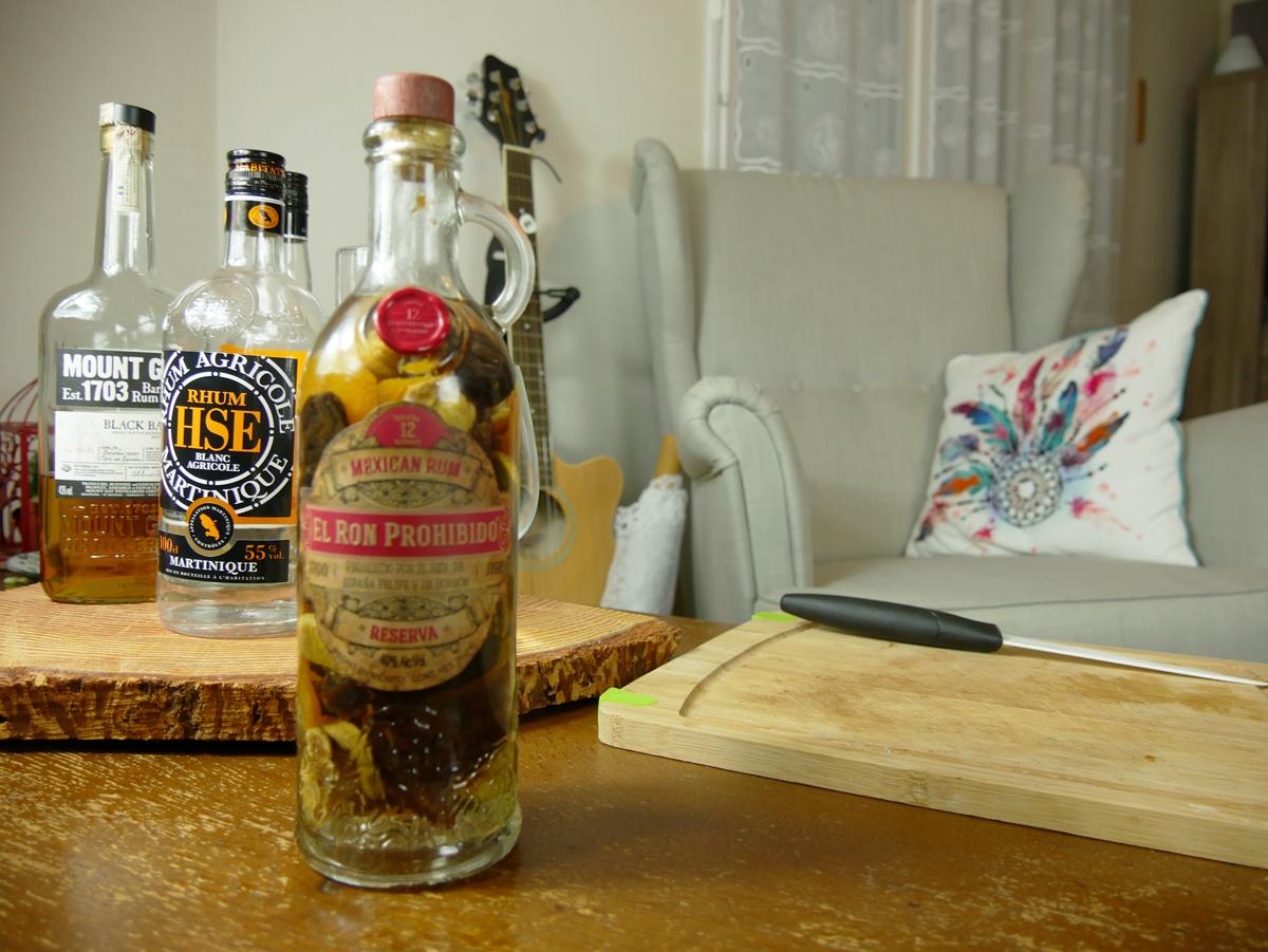 Recette Rhum Arrangé aux fruits secs - Rhum et Whisky