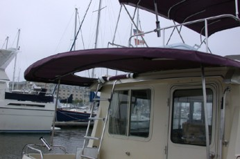 Custom permanent cockpit bimini