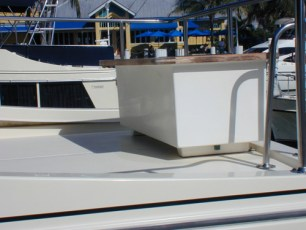 Storage box installation on flybridge