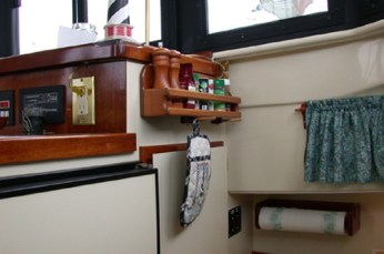 Spice rack in galley