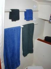 Towel racks on suction cups