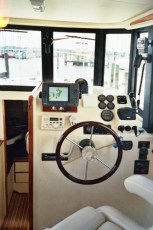 Overhead stereo and VHF installation