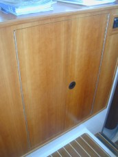 Using washer/dryer cabinet for additional storage