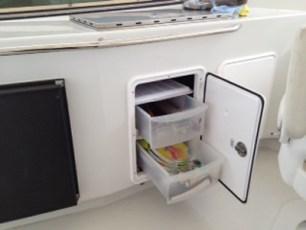 Flybridge additional storage solutions