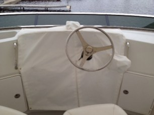 Flybridge helm instrument cover