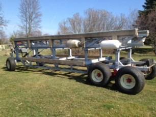 Custom built trailor for hauling boat