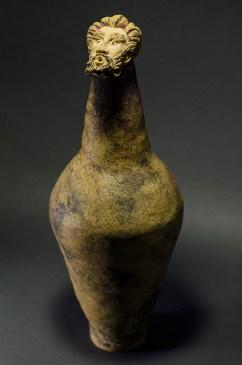 Stoneware Vessel - 17.8 H x 6.5 W x 6.5 in