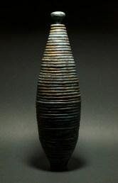 Stoneware Vessel - 20 H x 5.8 W x 5.8 in