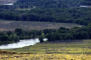 Fly fishing the North Platte River in Wyoming