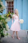 Flirty Summer Dress In Feminine Embroidered Pink